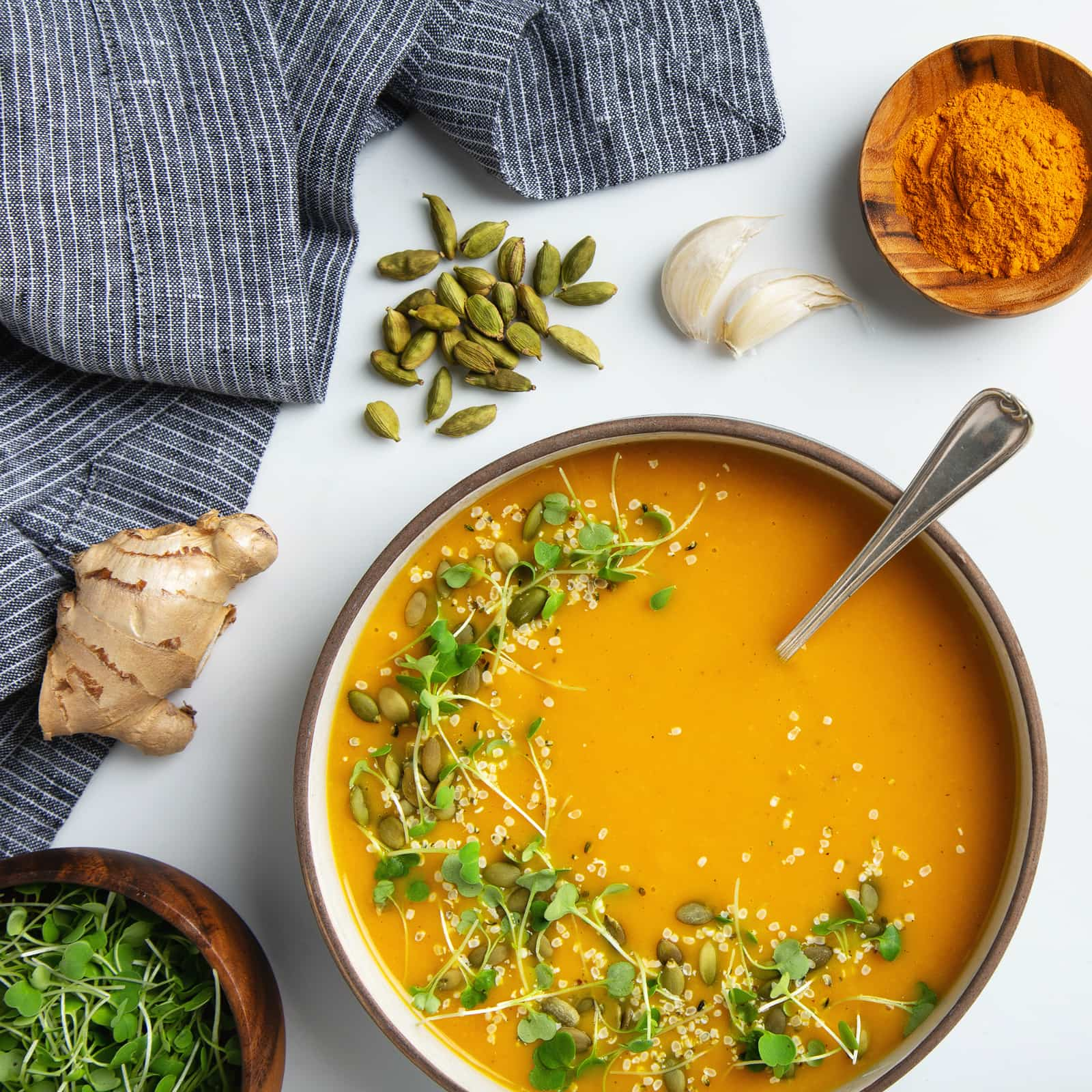 Golden Turmeric Butternut Squash Soup